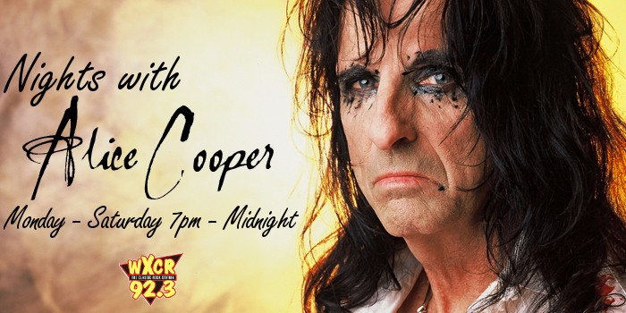 Nights With Alice Cooper on 92.3 WXCR