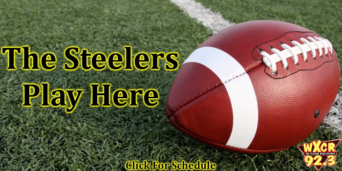 Pittsburgh Steelers 2016 Football Schedule 92.3 WXCR New Martinsville WV West Virginia