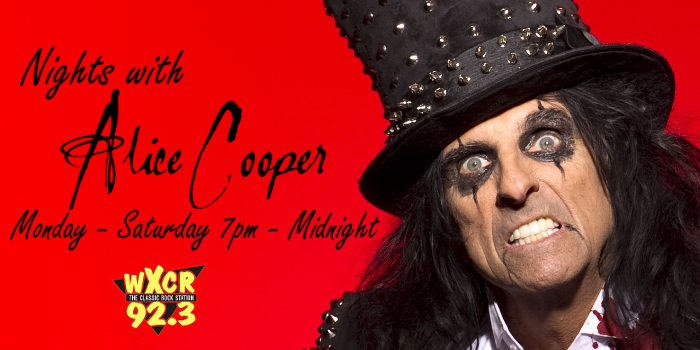 Nights With Alice Cooper on 92.3 WXCR New Martinsville West Virginia